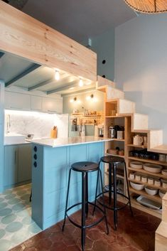 48 New Step By Step Roadmap For Studio Kitchen Ideas Small Spaces 34 Small Loft Apartments, Small Appartment, Small Apartment Design, Small Room Design, Tiny House Design, Cute Apartment, Small Space Interior Design, Small Space Kitchen, Small Spaces