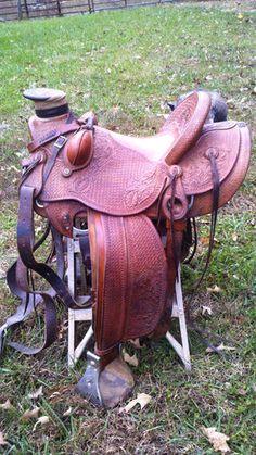 Original Wade Ranch Saddle Custom Built by Earl Twist