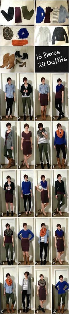 16 Pieces/ 20 Outfits