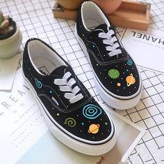 Harajuku fashion galaxy hand-painted shoes SE10856