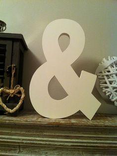 Freestanding Wooden Letter Ampersand '&' - 20cm - Ariel Font