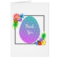 Cute polka dot egg with floral wreath. card - thank you gifts ideas diy thankyou