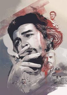 The Man, The Myth, The Legend, an art print by Ryan Konzelman Che Guevara Tattoo, Che Guevara Photos, Che Quevara, Victor Jara, Pawan Kalyan Wallpapers, Ernesto Che Guevara, Galaxy Pictures, Fidel Castro, Sketches