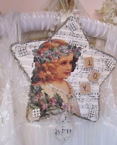 Shabby Chic Tree Star - Angel - Joy