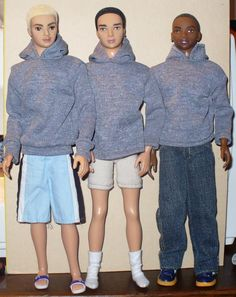 Free Barbie Doll Sewing Pattern: hoodie pattern for ken, sewing - appears to be full-size on the screen