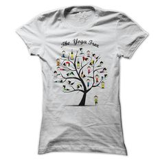Womens t-shirt - yoga tree pose
