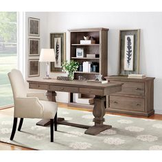 Home Decorators Collection Aldridge Computer Desk in Antique Grey - 9414700270 - The Home Depot