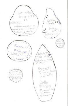 Manualidades Luna Clara: Conejitos en tela ( con moldes)