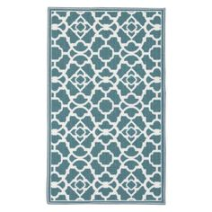 Waverly by Nourison Fancy Free And Easy Lovely Lattice Kitchen Mat - 99446209108 Indoor Door Mats, Indoor Doors, Kitchen Mat, Teal And Gold, Fancy, Rugs, Pattern, Free, Home Decor