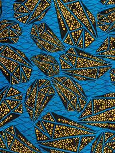 'African' wax block print fabric (Made in China) via eBay