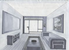 how to draw one point perspective eglington west