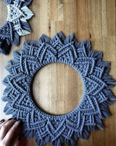 Excited to share this item from my shop: Ready to Ship // Pewter Layered Mandala Burst Hoop Wall Hanging Macrame Mirror, Macrame Wall Hanging Patterns, Macrame Art, Macrame Projects, Macrame Knots, Macrame Patterns, Yarn Crafts, Diy And Crafts, Art Macramé