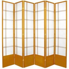 "83.5"" x 84"" Double Cross Shoji 6 Panel Room Divider"