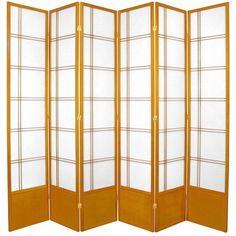 "83.5"" x 84"" Double Cross Shoji 6 Panel Room Divider"