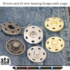 We are pleased to introduce to you our new production of 19 mm and 21 mm Sewing Snap Button with Logo.