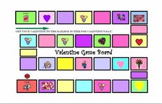 Valentine's Day game board. -  Pinned by @PediaStaff – Please Visit ht.ly/63sNt for all our pediatric therapy pins