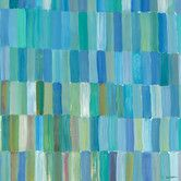 Found it at AllModern - Popsicle Sticks by Jack Dickerson Painting Print on Wrapped Canvas in Blue and Green