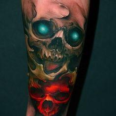 Realistic Sugar Skull Tattoo - Bing images