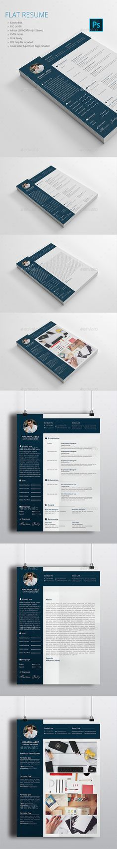 Clean Resume / CV / Portfolio Resume cv, Creative resume templates