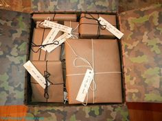 List of items and gift tags for each item - deployment survival care package!