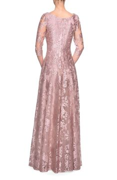 La Femme Floral Embroidered A-Line Gown | Nordstrom Evening Dresses, Prom Dresses, Formal Dresses, Bride Dresses, A Line Gown, Groom Dress, Nordstrom Dresses, A Line Skirts, Mother Of The Bride