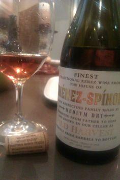 Ximénez-Spínola Medium Dry Old Harvest. A very special sherry wine.