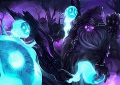 Reaper Bard by DarkMusli.deviantart.com on @DeviantArt Splash art de una skin para Bardo de League of Legends: Bardo Segador de Almas