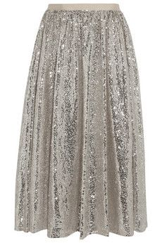 Alice + Olivia Justina sequined tulle skirt | NET-A-PORTER