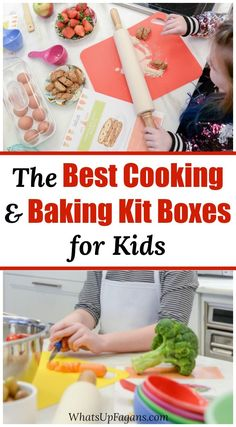 Looking for a kid baking kit or a kids cooking subscription? This is THE list with the best food making kits for kids available in Kids Baking Kit, Cooking Kits For Kids, Cooking Box, Cooking With Kids Easy, Cooking Recipes For Dinner, Easy Meals For Kids, Cake Cooking Videos, Subscription Boxes For Kids, Gifts For Cooks