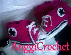 Mis converse a crochet