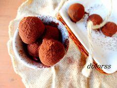 Blog de cuina de la dolorss: Trufas de chocolate con almendras