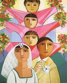O Casamento - Cícero Dias e suas principais pinturas ~ Pintor pernambucano Art Archive, Outsider Art, Van Gogh, American Art, Flower Art, Art Museum, Amazing Art, Coloring Books, Illustration