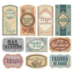 Ideas for kitchen vintage printables decoupage Pantry Labels, Jar Labels, Kitchen Labels, Labels Free, Food Labels, Kitchen Jars, Vintage Design, Vintage Images, Collages D'images