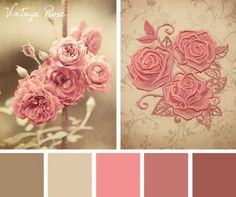 Sometimes you just have to go classic, like in this Vintage Rose color inspiration for your embroidery designs.