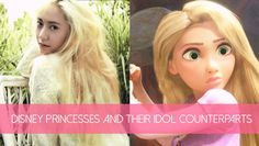 Disney Princesses and their idol counterparts | Disney Princesses and their idol counterparts http://www.allkpop.com/article/2015/03/disney-princesses-and-their-idol-counterparts