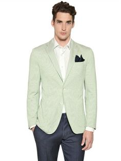 BOGLIOLI COTTON BLEND CREPE DOVER JACKET Luxury Shop, Mother Of Pearl Buttons, Mens Suits, Gentleman, Suit Jacket, Menswear, Blazer, Cotton, Jackets