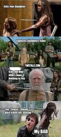 The Walking Dead season 4 funny memes Walking Dead Season 4, Walking Dead Funny, Walking Dead Series, Walking Dead Zombies, Fear The Walking Dead, Walking Dead Quotes, Walking Dead Cast, Twd Memes, Funny Memes