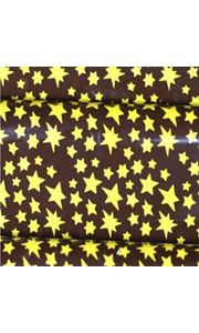 """Golden Nights Chocolate Transfer Sheets -  Design is printed as a continuous pattern on the full 10"""" x 15.75"""" acetate chocolate transfer sheet. The background color that appears represents chocolate, this background color will not print on the transfer sheet."""