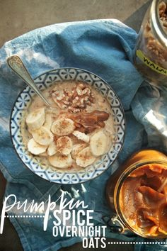 Pumpkin Spice Overnight Oats (use gluten free oats)