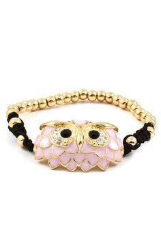 Crystal Aspen Owl Bracelet