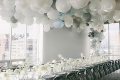 """<p> In April, event designers <a href=""""http://www.bizbash.com/tinsel-twine/new-york/listing/883461"""">Tinsel & Twine</a> created an ethereal balloon canopy installation for a media party introducing..."""