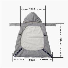 Infant Baby Carrier Wrap Comfort Sling Winter Warm Cover Cloak Blanket M01