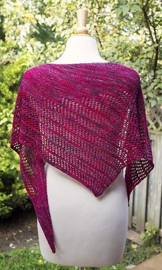 Flirt is an asymmetrical, triangle scarf designed for fingering weight yarns. Entire scarf is knit diagonally in garter stitch with lots of openwork.You will need:1 stitch marker 700 yards fingering weight yarn 3.50mm needlesAfter blocking the measurements are approximately 60 inches along neck edge and 16 inches deep.Enjoy!