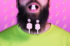 """Bubble Bath"" #jewelry #cottoncandypink #beard #earrings #handmadejewellery  #handmade #austria #handmadeearrings #funky #popartdesign #crazy Cute Earrings, Statement Earrings, Pop Art Design, Graphic Design, Earrings Handmade, Handmade Jewelry, Pink Cotton Candy, Passion Project, Meet The Artist"