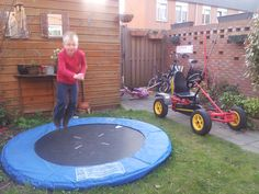Ook kleinere trampolines kun je prima ingraven.