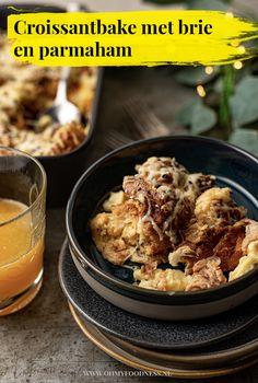 Croissantbake met brie en parmaham Brie, Croissant, Tapas, Cereal, Vegetables, Breakfast, Food, Zucchini, Morning Coffee