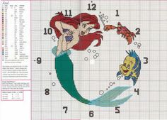 Little Mermaid - Clock