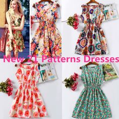 2015 New 21 Styles Women Casual Dress Vestidos De Festa Elastic Waist Cheap Clothes China Bohemian Beach Chiffon Summer Dresses