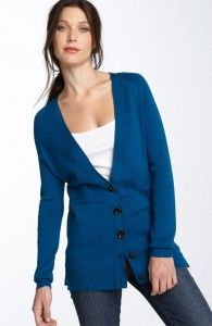 The long cardigan  For over 40 ladies the long cardigan vs a pull over is a great update. This you will want to layer with a nice fitting t-shirt and possibly belt it. Now with the boots you have a great updated casual look!  (Nordtroms)