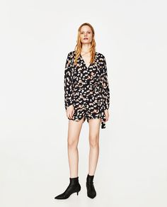 ZARA - WOMAN - PRINTED JUMPSUIT WITH BUCKLE
